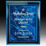 Blue Marble Look Acrylic Plaque Acrylic Awards | Acrylic Trophies